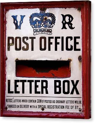 Post Box Canvas Print by Jane Rix