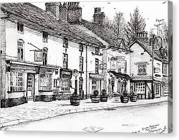 Post Office  Prestbury Canvas Print by Vincent Alexander Booth
