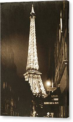 Postcard From Paris- Art By Linda Woods Canvas Print by Linda Woods