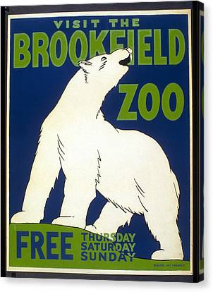 Poster For The Brookfield Zoo Canvas Print by Unknown