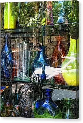 Potential Broken Glass Canvas Print by Donna Blackhall