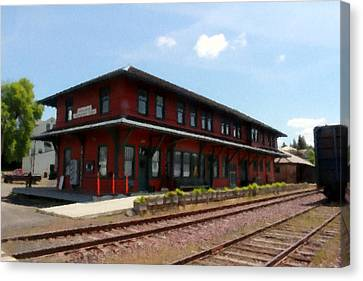 Potlatch Depot Canvas Print by Matt McCune