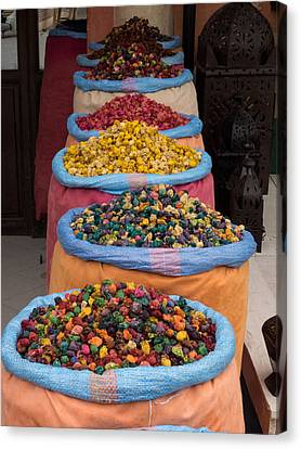 Potpourri For Sale In Souk, Marrakesh Canvas Print by Panoramic Images