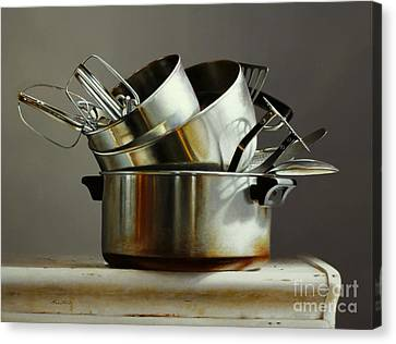 Pots And Pans Canvas Print by Larry Preston