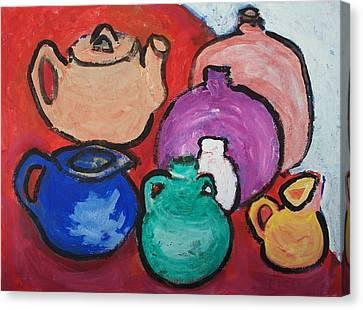 Pots Canvas Print by Jay Manne-Crusoe