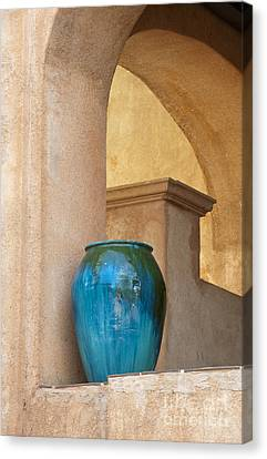 Pottery And Archways Canvas Print by Sandra Bronstein