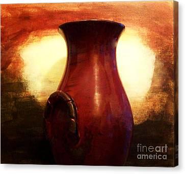 Pottery From Italy Canvas Print by Marsha Heiken