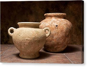 Pottery I Canvas Print by Tom Mc Nemar