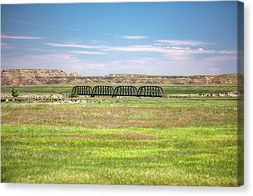 Powder River Bridge Canvas Print by Todd Klassy