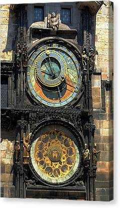 Prague Astronomical Clock Canvas Print by C H Apperson