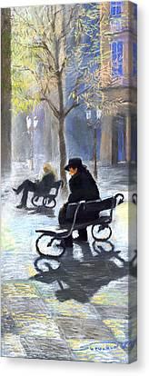 Prague Autumn Ray Canvas Print by Yuriy  Shevchuk