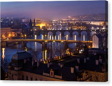 Prague Bridges Canvas Print by Blaz Gvajc