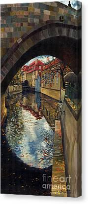 Prague Chertovka 3 Canvas Print by Yuriy  Shevchuk
