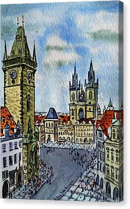 Prague Czech Republic Canvas Print by Irina Sztukowski