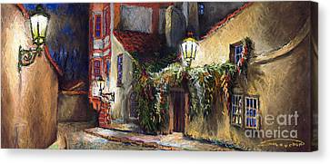 Prague Novy Svet Kapucinska Str Canvas Print by Yuriy  Shevchuk