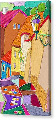 Prague Old Street Ceminska Novy Svet Canvas Print by Yuriy  Shevchuk