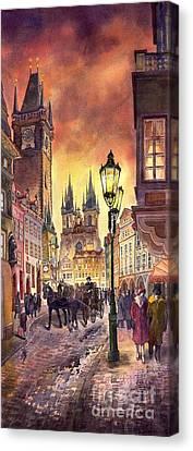 Prague Old Town Squere Canvas Print by Yuriy  Shevchuk