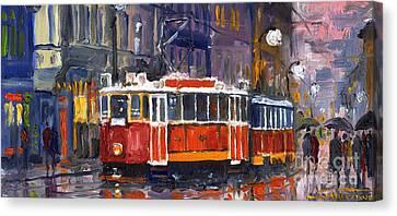 Prague Old Tram 09 Canvas Print by Yuriy  Shevchuk