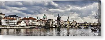Prague Panorama Canvas Print by Heather Applegate