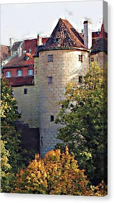 Praha Castle Canvas Print by Shawn Wallwork