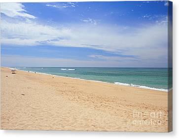 Praia De Faro Canvas Print by Carl Whitfield