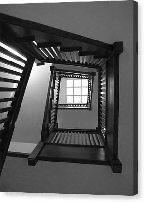 Prairie House Stairs Canvas Print by Anna Villarreal Garbis