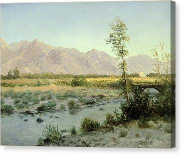 Prairie Landscape Canvas Print by Albert Bierstadt