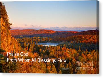 Praise God From Whom All Blessings Flow Canvas Print by Wayne Moran