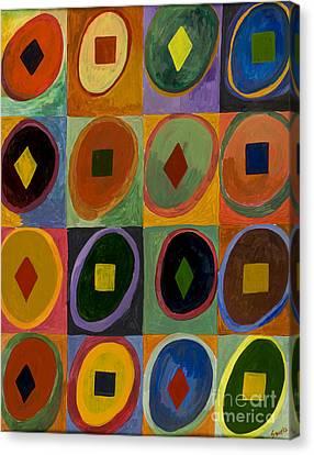 Prana Circles Canvas Print by Sweta Prasad