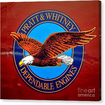 Pratt And Whitney Canvas Print by Olivier Le Queinec