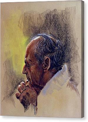 Prayer. Hope In God Canvas Print by Graham Braddock