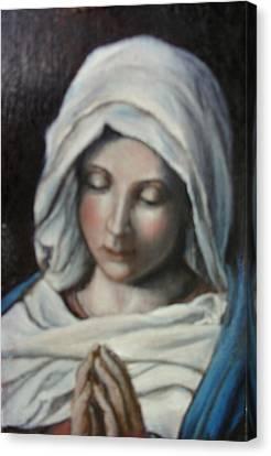 Prayer Canvas Print by Sorin Apostolescu