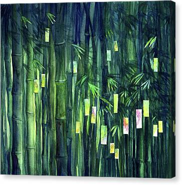 Prayer Tree IIi Canvas Print by Janet Chui