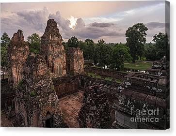 Preah Khan Temple Ruins Canvas Print by Mike Reid
