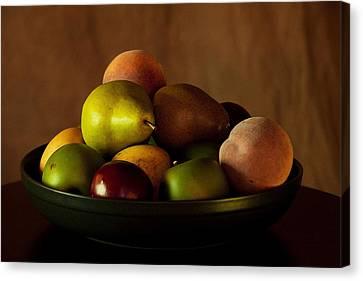 Precious Fruit Bowl Canvas Print by Sherry Hallemeier