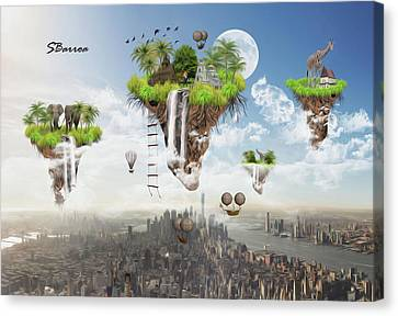Predicting The Future Canvas Print by Surreal Photomanipulation