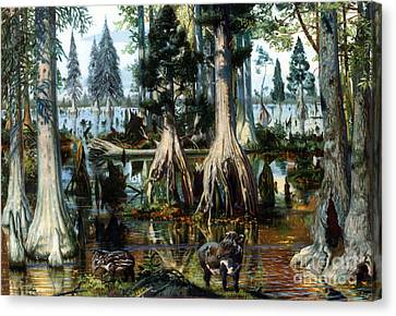 Prehistoric, Eocene Landscape Canvas Print by Science Source