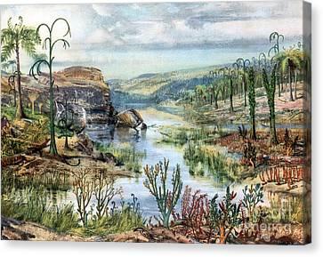Prehistoric, Middle Devonian Landscape Canvas Print by Science Source