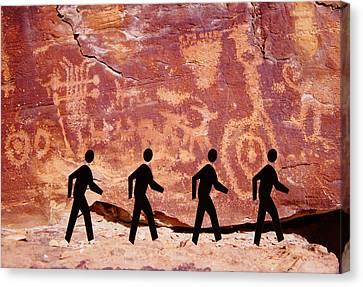 Prehistoric Rock The Beatles Abbey Road Canvas Print by James Mikkelsen