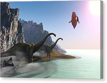 Prehistoric World Canvas Print by Corey Ford