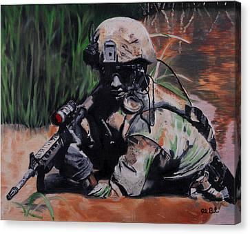 Prepared To Die Canvas Print by Ruben Barbosa