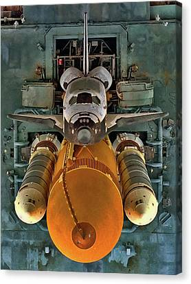 Preparing For Launch Canvas Print by Dale Jackson