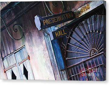 Preservation Hall Sign Canvas Print by Jeremy Woodhouse
