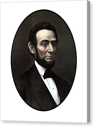 President Abraham Lincoln  Canvas Print by War Is Hell Store