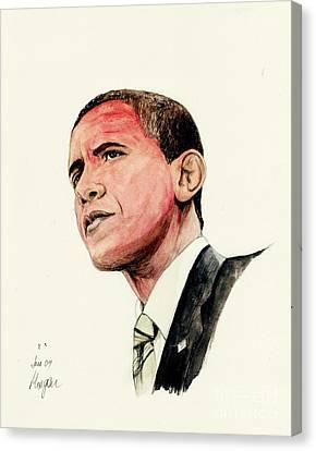 President Barak Obama Canvas Print by Morgan Fitzsimons