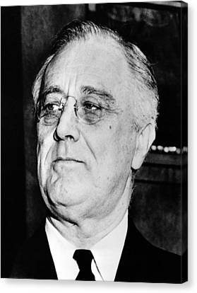 President Franklin Delano Roosevelt Canvas Print by War Is Hell Store