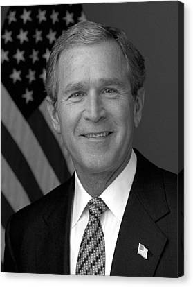 President George W. Bush Canvas Print by War Is Hell Store