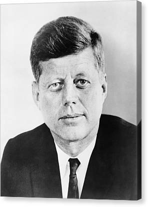 President John F. Kennedy Canvas Print by War Is Hell Store