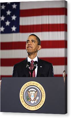 President Obama Canvas Print by War Is Hell Store