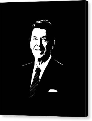President Ronald Reagan Canvas Print by War Is Hell Store